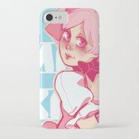 madoka iPhone & iPod Cases featuring Kaname Madoka by Hikkaphobia