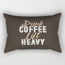 Drink Coffee Lift Heavy Rectangular Pillow
