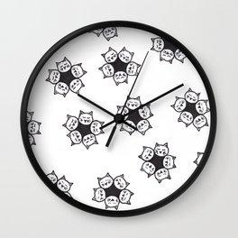 Cat Blossoms Wall Clock