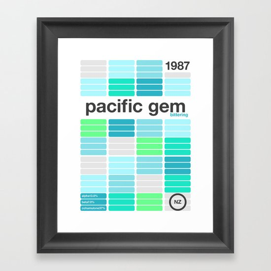 pacific gem single hop Framed Art Print