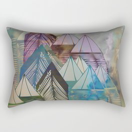 Triangular Endings on the Top Above the Clouds / Urban 04-11-16 Rectangular Pillow
