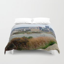 Downtown Pittsburgh in the Fall 23 Duvet Cover