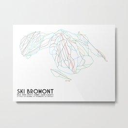Ski Bromont, QC, Canada - Minimalist Trail Art Metal Print