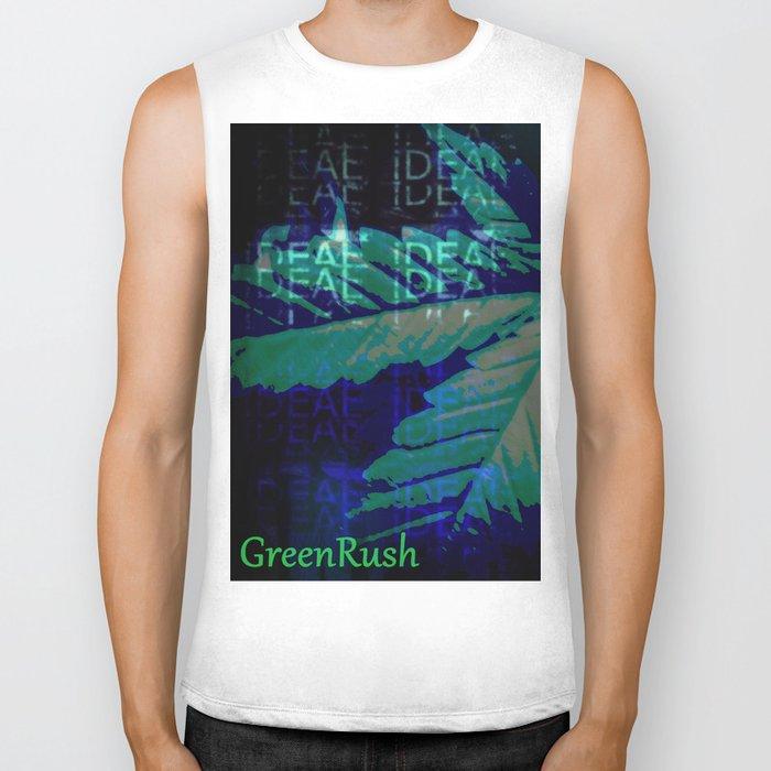 the GreenRush Collection - BlueDream Biker Tank