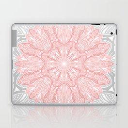 MANDALA IN GREY AND PINK Laptop & iPad Skin