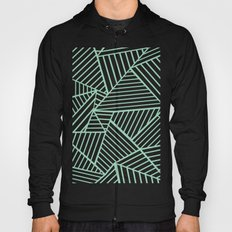 Abstract Lines Close Up Mint Hoody