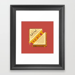 Grilled Cheese Sammy Framed Art Print