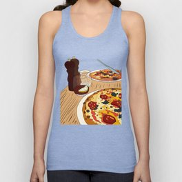 Pizza Time! Unisex Tank Top