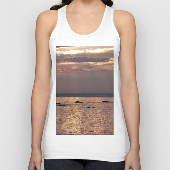 Circle of Rocks Light From Above Unisex Tank Top