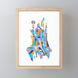 City of th Clowns - blue Framed Mini Art Print
