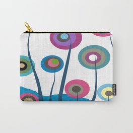Artsy and Funky Floral Art Carry-All Pouch