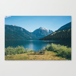 Picnic at Wallowa Lake, Oregon Canvas Print