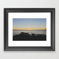 california sunrise come on and wake me up  Framed Art Print