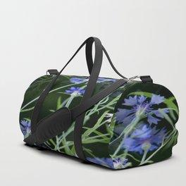 Cornflowers on Dark Background #decor #society6 #buyart Duffle Bag