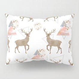 Pattern deer wood Pillow Sham