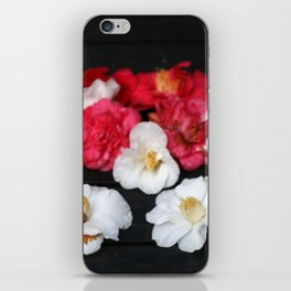 Red and White camelia iPhone Skin