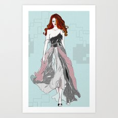 Red Head Swagger Art Print