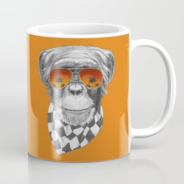 Hand drawn portrait of Monkey. Coffee Mug