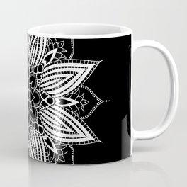 Black and White Flower Mandala Coffee Mug