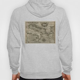Vintage Map of Italy and Greece (1587) Hoody