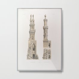 Naçeriyeh Mosque, Kaire Mr. el Bordeni ,1843 Metal Print