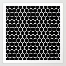 Graphic_Cells Black&White Art Print