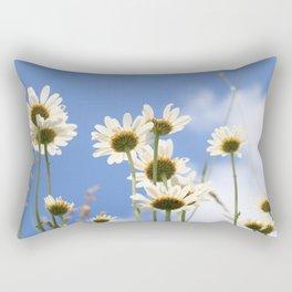 Dog Daisy Flowers Rectangular Pillow