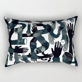 Dark Hands Rectangular Pillow