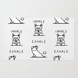 Inhale Exhale French Bulldog Rug