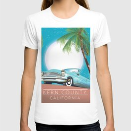 Kern County California vintage style travel poster T-shirt