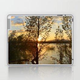 """Sun through the trees"". Spring sunset. Laptop & iPad Skin"