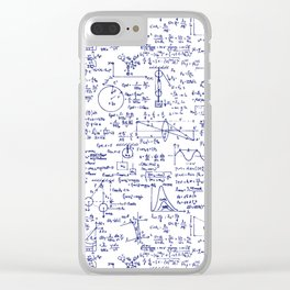 Physics Equations in Blue Pen Clear iPhone Case