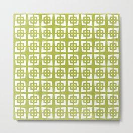 Mid Century Modern Pattern 271 Chartreuse Metal Print