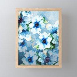 Watercolor Flower Garden Framed Mini Art Print