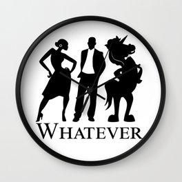 Man, Woman, Unicorn Wall Clock