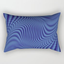 Gradients in blue Rectangular Pillow