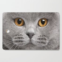 Cat in Grey Cutting Board