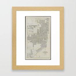Map Miami Florida.Miami Map Framed Art Prints Society6