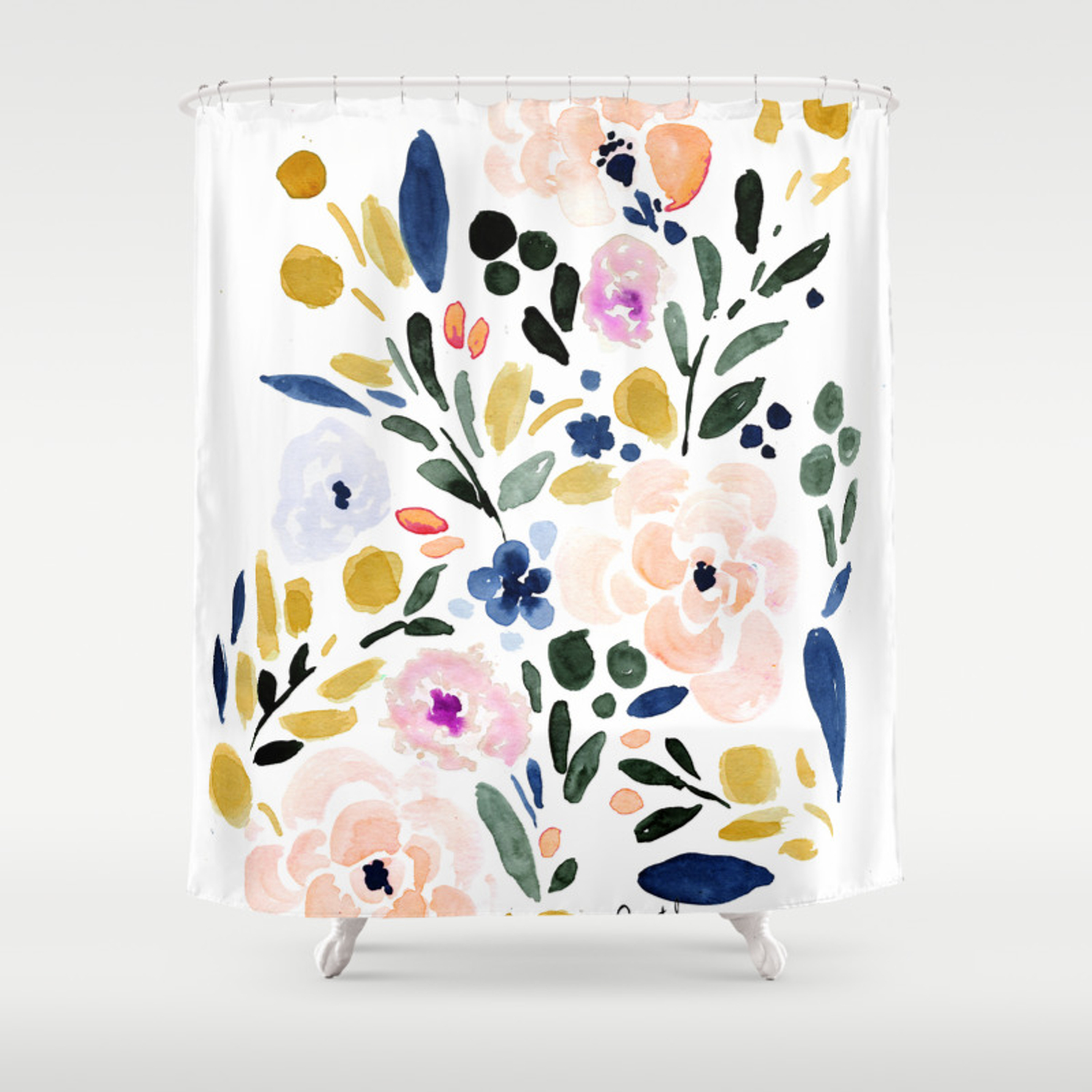 Sierra Floral Shower Curtain By Crystalwalen Society6