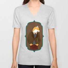 Mr Fox is stylish Unisex V-Neck