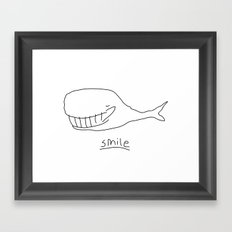 Cheshire Whale Framed Art Print