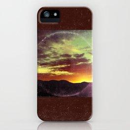 American Sunset As Vintage Album Art iPhone Case