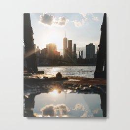 New York Reflection Metal Print