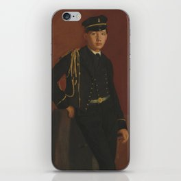 Edgar Degas - Achille De Gas in the Uniform of a cadet iPhone Skin