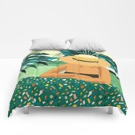Chill #illustration #travel Comforters