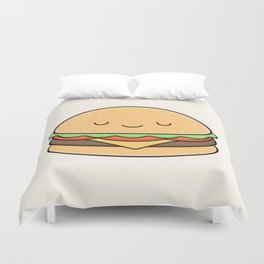 Happy Burger Duvet Cover