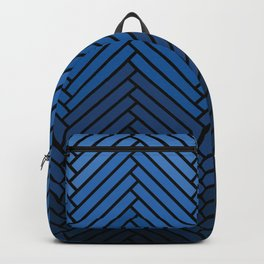 Parquet All Day - Black & Chambray Backpack