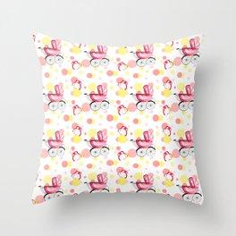 Baby Girl pink and Yellow Nursery Throw Pillow