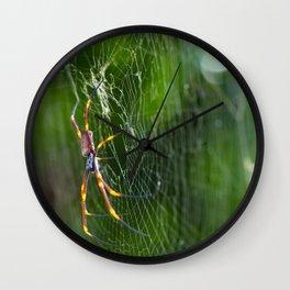The Golden Orb Wall Clock