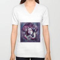 korea V-neck T-shirts featuring South Korea by Holly Carton